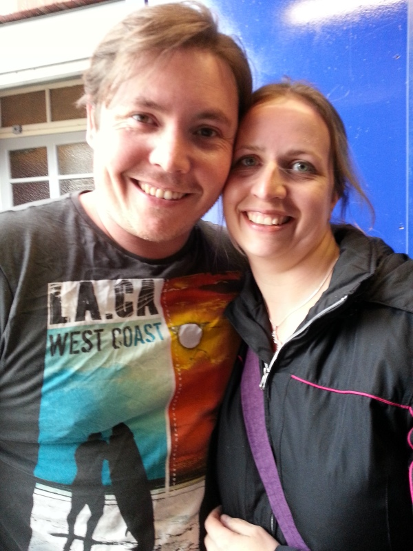 Myself with David after Billy Elliot in May